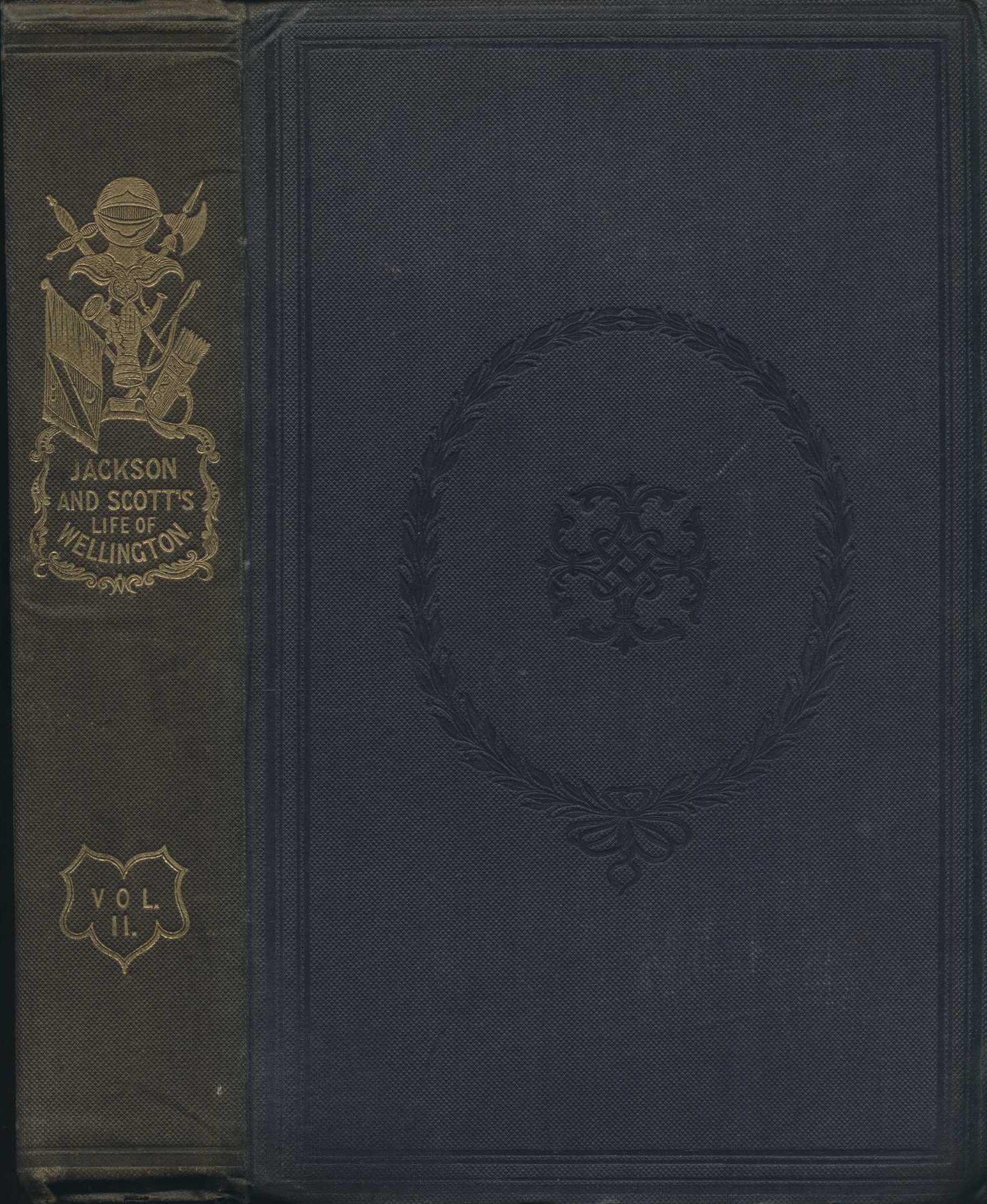 Basil Jackson and C. Rochfort Scott. The military life of Field Marshal the Duke of Wellington, K.G. &c. London: Longman, Orme, Brown, Green, and Longmans, 1840. Two volumes, Vol. 2 displayed.