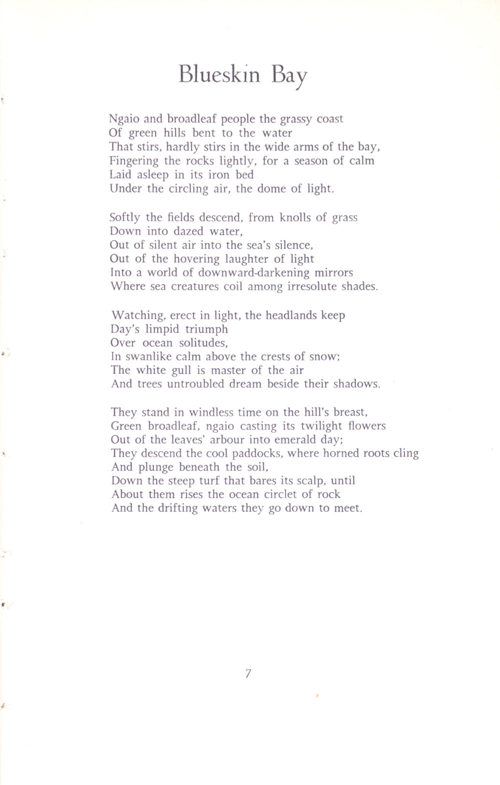 Charles Brasch. <em>The estate and other poems</em>. Christchurch: Caxton Press, 1957.