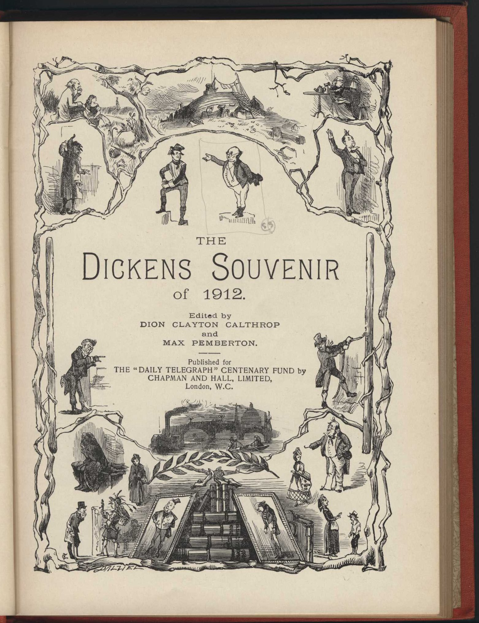 Dion Clayton Calthrop and Max Pemberton (editors). The Dickens souvenir of 1912. London: Published for the Daily Telegraph Centenary Fund by Chapman and Hall, 1912.