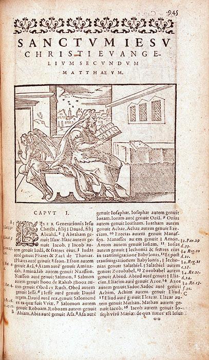 Biblia sacra, ad vetustissima exe[m]plaria nunc recens castigate, Romæque reuisa … Lyon: Gulielmum Rouillium, 1588. RBP Bible Latin 1588