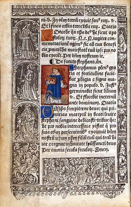 Book of Hours, in Latin, use of Rome. Paris: Printed by Jehan de la Roche, for Nicolas Vivien, 23 February 1514