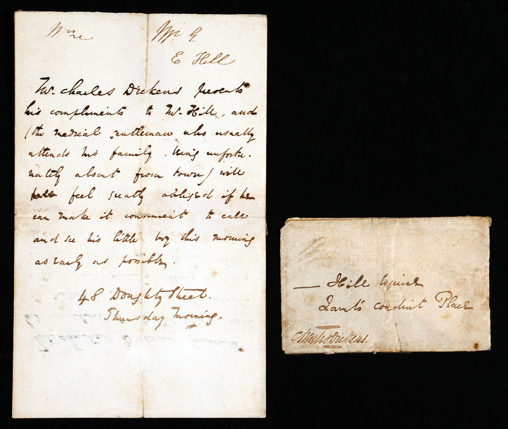 Letter (in third person). Charles Dickens to E. Hill, 48 Doughty Street, London, [early December 1837]