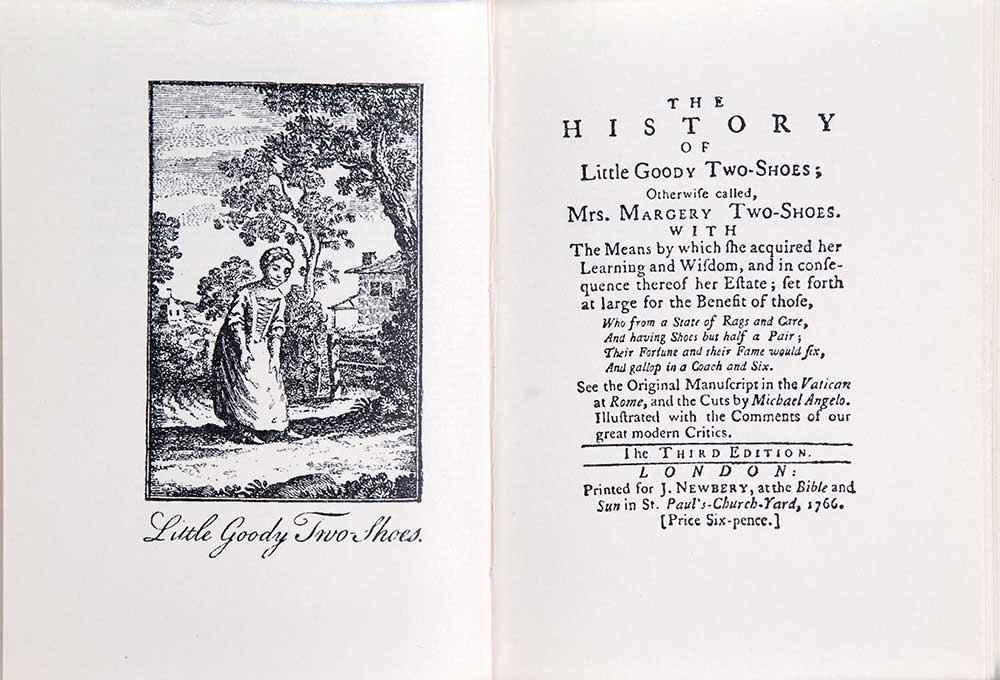 <em>Goody Two-Shoes: a facsimile reproduction of the edition of 1766.</em> London: The Bodley Head, 1981.