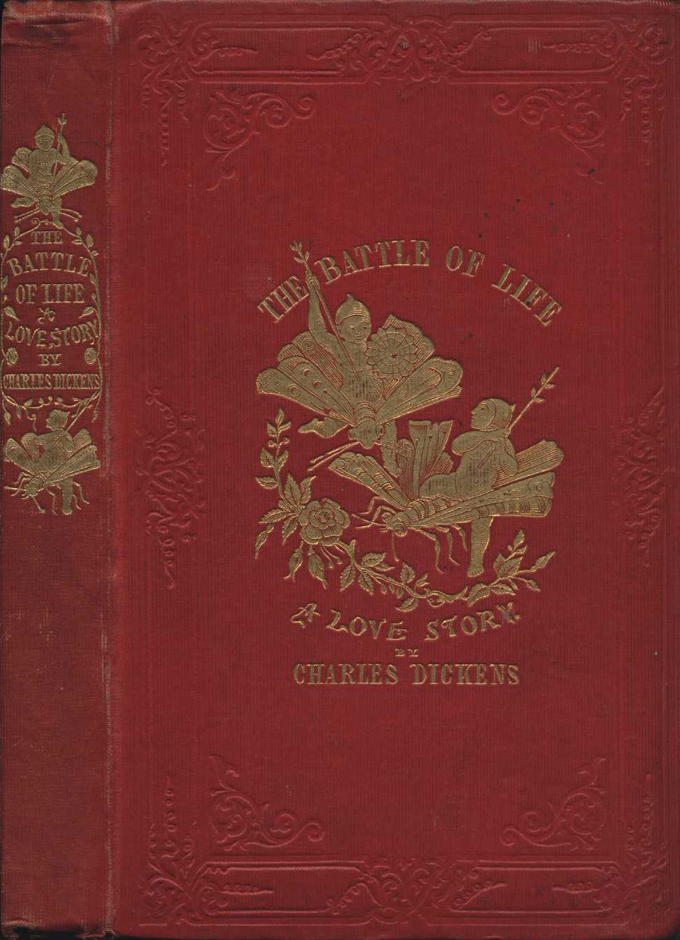 Charles Dickens. The battle of life: a love story. London: Bradbury & Evans, 1846.