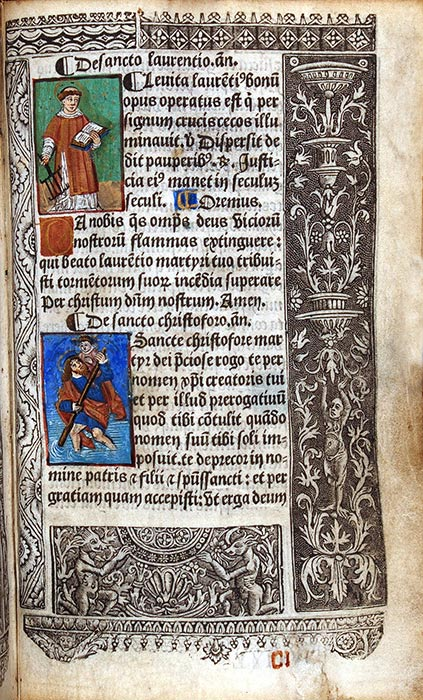 Book of Hours, in Latin, use of Rome. Paris: Printed by Jehan de la Roche, for Nicolas Vivien, 23 February 1514. RL Catholic Hours 1514