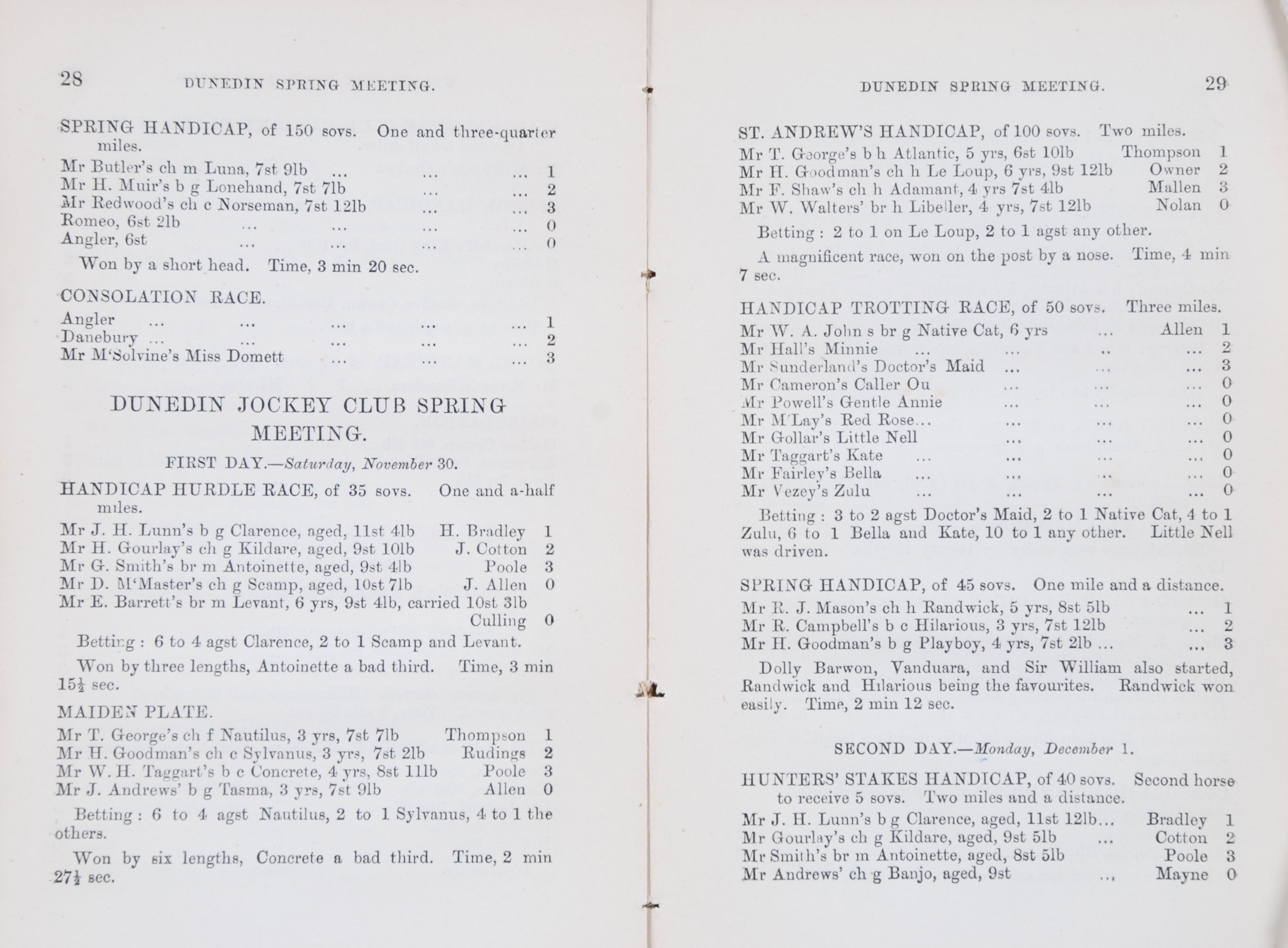 New Zealand Turf Register.  Christchurch, N.Z.: Christchurch Press Co., 1881 and 1908.