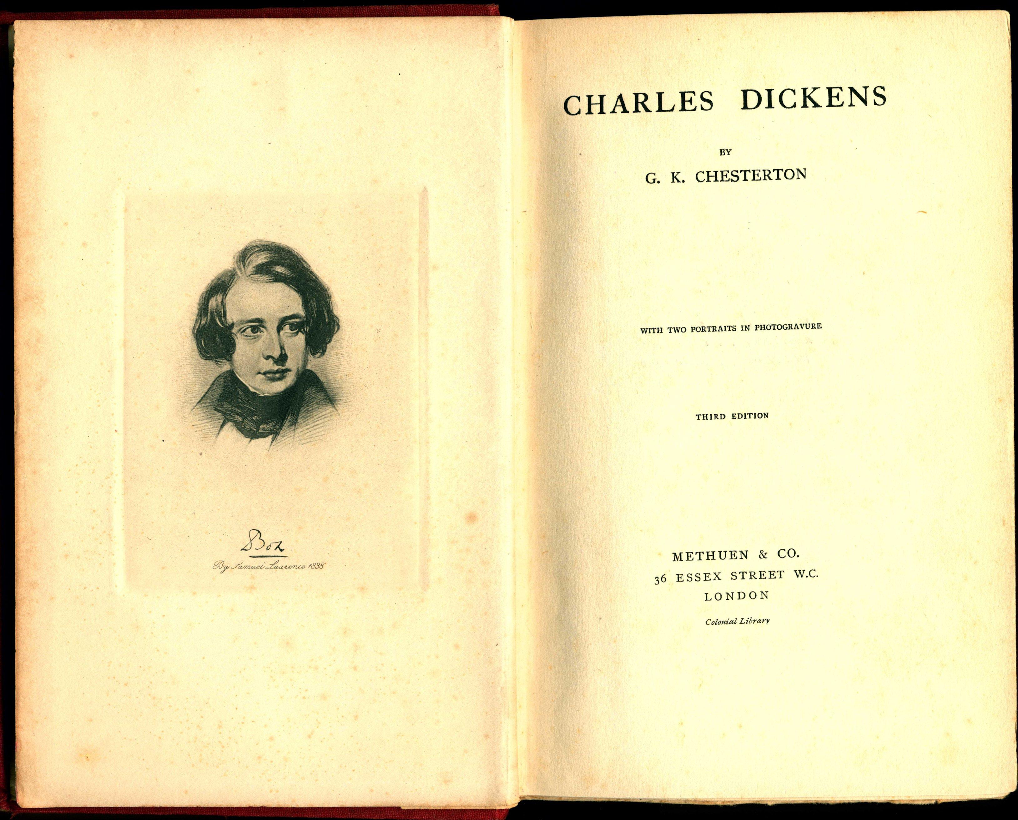 G.K. Chesterton. Charles Dickens. London: Methuen, 1906.