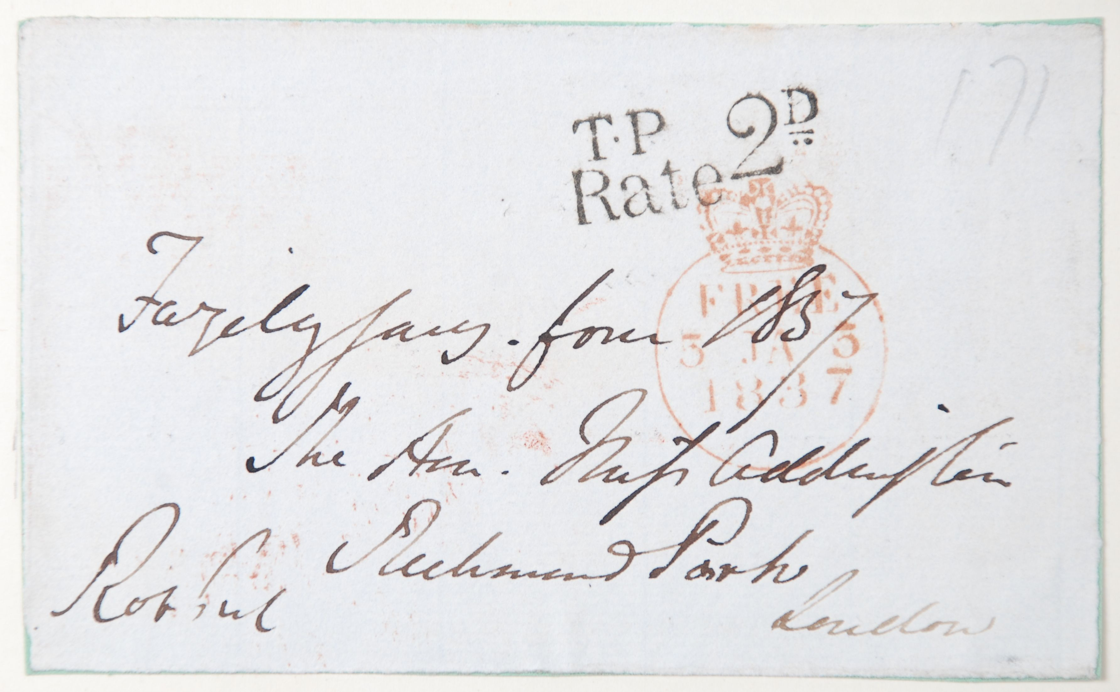Reed Autograph Letters Album B1, no. 63: Sir Robert Peel.