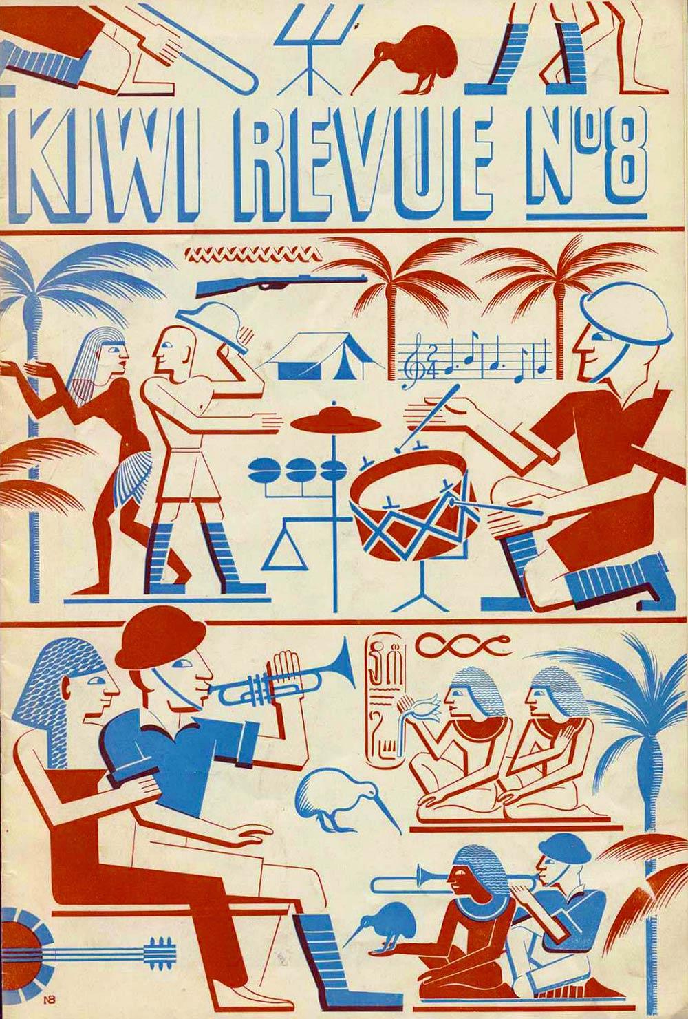 <em>Kiwi revue no. 8</em>. (The Kiwi Concert Party, New Zealand Entertainment Unit, 2nd N.Z.E.F.). New Zealand tour, 1943.