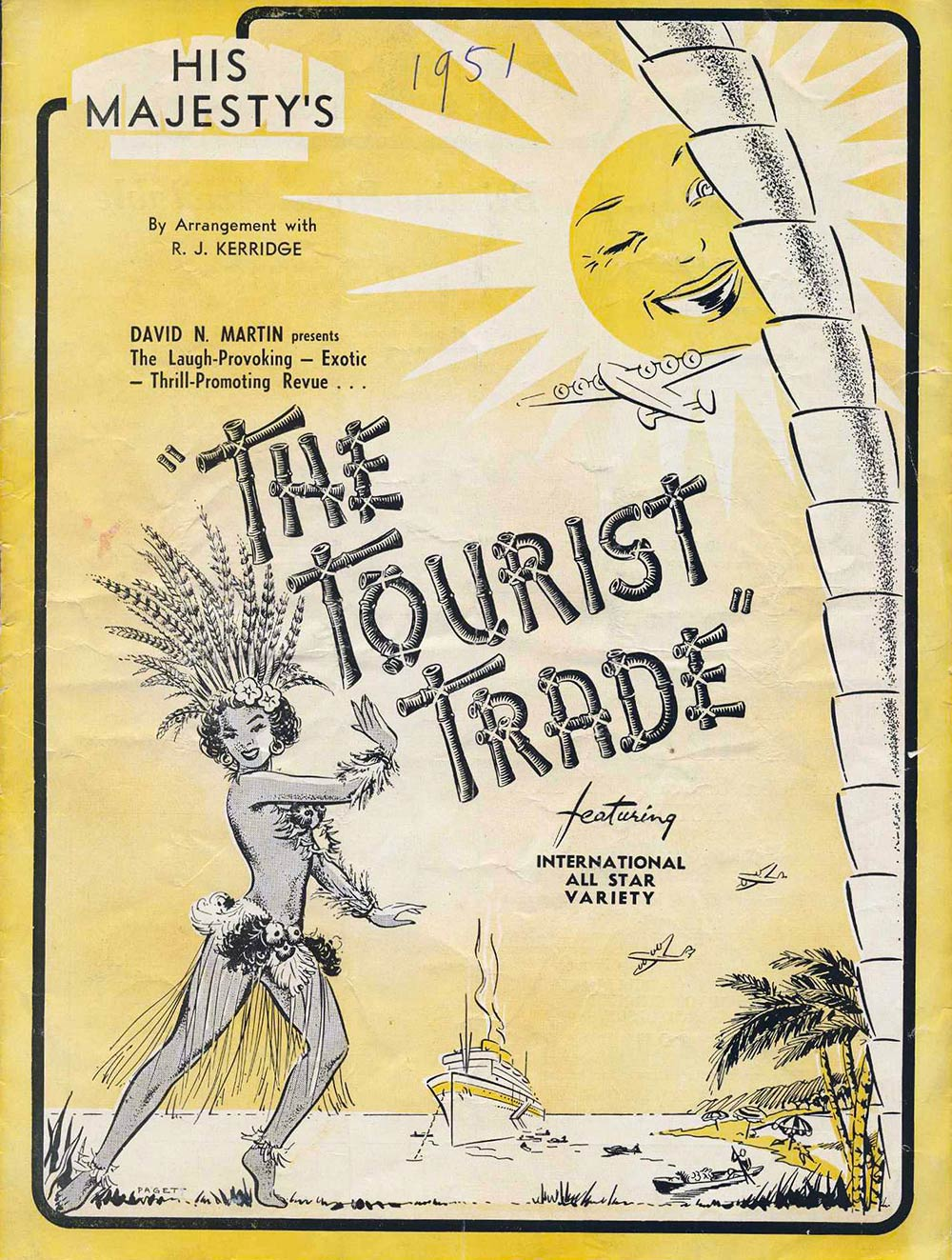<em>The tourist trade</em>. Ralton R. James. (Tivoli Circuit). His Majesty's Theatre, Dunedin, May 25, 1951.