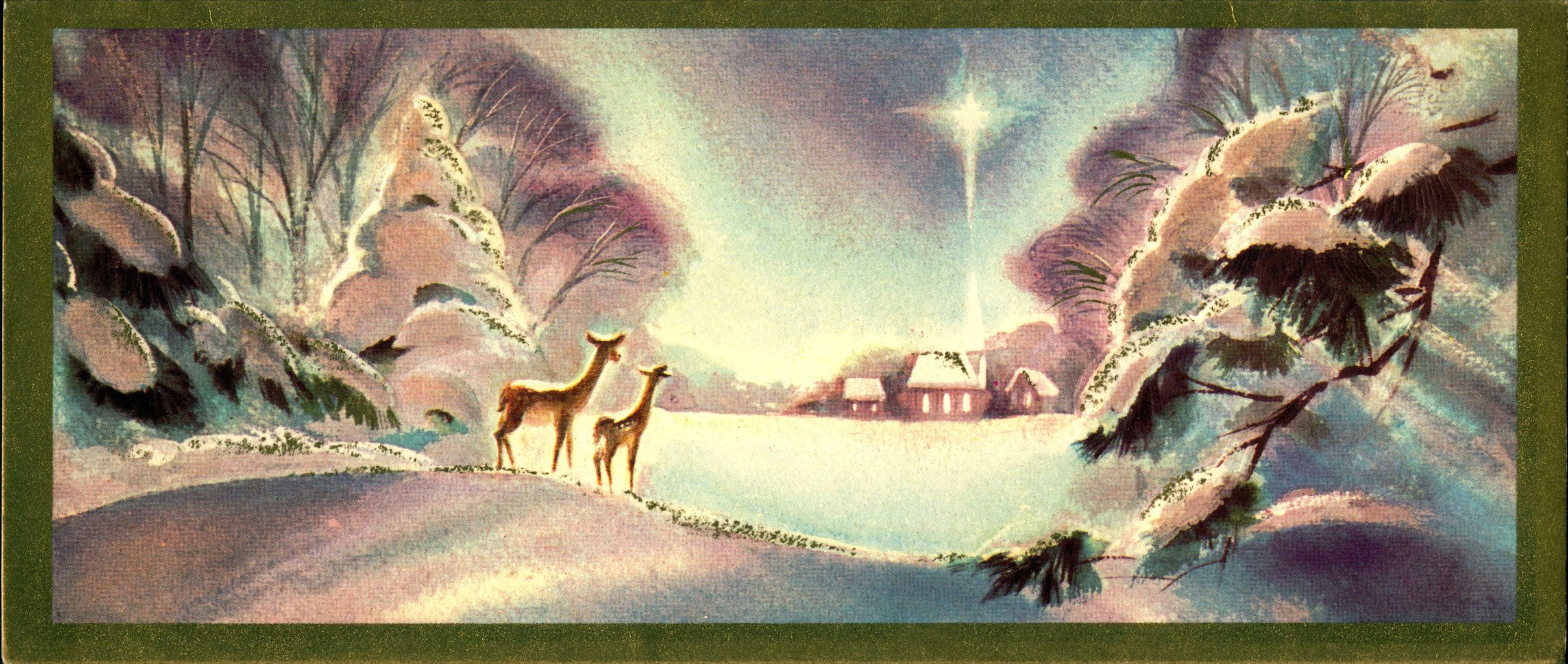 Collection of Christmas Cards, 1940s-1960s